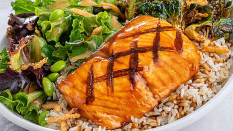 Greens-Filled Grilled Salmon Bowls
