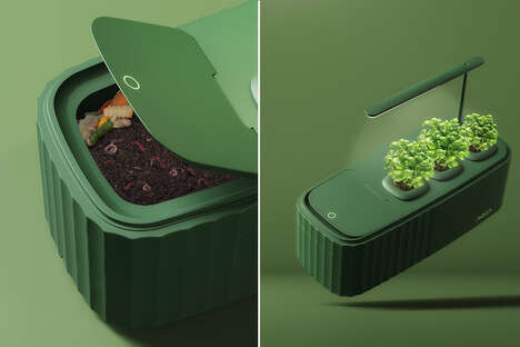 Composting Indoor Garden Systems