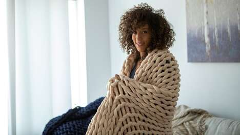 Oversized Knit Weighted Blankets
