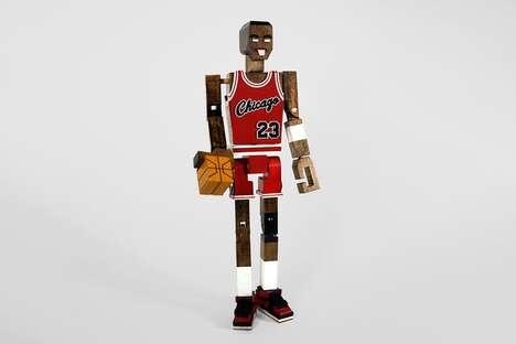 All-Star Athlete Wooden Sculptures