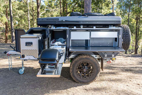 All-in-One Off-Grid Camping Trailer