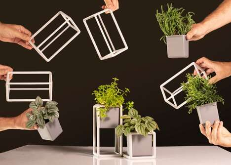 Personalized Planter Systems - The 'Plant1Up' Magnetic Modular Planter Lets Users Customize Layouts