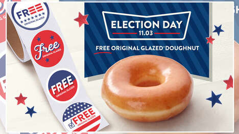 Complimentary Election Day Doughnuts - Krispy Kreme is Offering Free Original Glazed Doughnuts