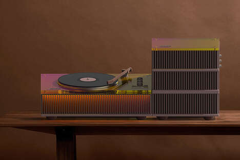 Architecturally-Inspired Audio Systems - The Old Future Turntable and Speaker is Eye-Catching
