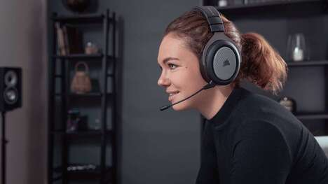 Surround Sound Gamer Headsets - The CORSAIR HS75 XB Wireless Gamer Headset Offers Dolby Atmos Audio