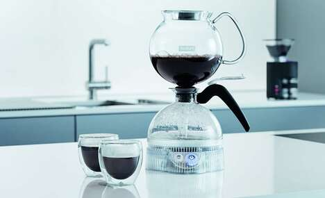 Powered Vacuum Coffee Makers - The Bodum ePEBO Siphon Coffee Maker Extracts Optimal Flavor