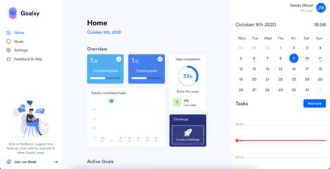 Goal-Oriented Productivity Tools - 'Goalsy' Helps Users Achieve Their Goals No Matter the Size