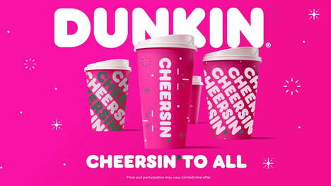 Pink QSR-Branded Holiday Cups