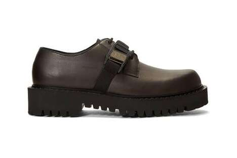 Buckled Chunky Leather Footwear