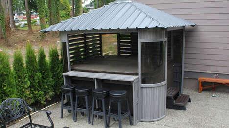 Bar-Equipped Hot Tub Gazebos