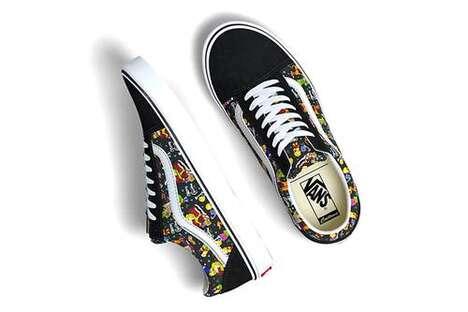 Festive Cartoon-Themed Sneakers