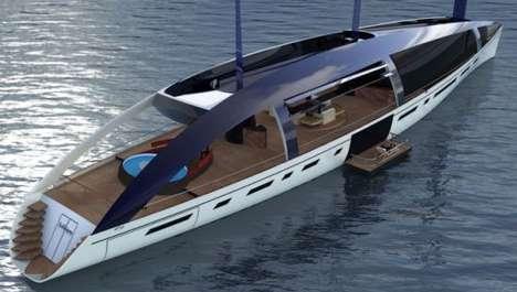 Solar Sail Luxury Yachts