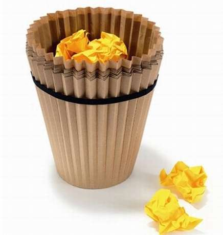 Cupcake Garbage Cans - Disposable Waste Baskets Made of Recycled Paper