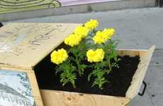 Flowering Flyer Boxes - Posterchild Does Guerrilla Gardening To Beautify Toronto