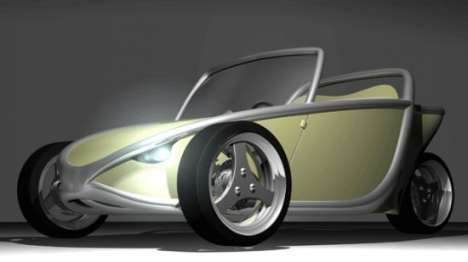 Future Car Exoskeletons - Recycled Aluminum 'Stauro' Vehicle Runs on Oranges