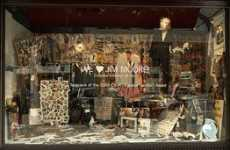 Retail Window Tributes - Barneys Celebrates Jim Moore's CFDA Award with Display