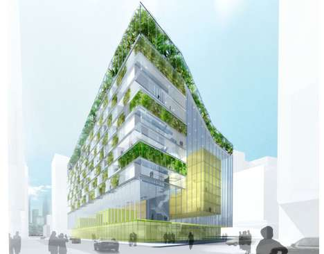 Evolved Ecotecture - Zuidkas Sustainable Skyscraper Helps Prepare for the Future