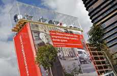Mid-Air Offices - Vodafone Advertises Their 'Oficina Movil' Service in Spain
