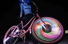 Light Bright Bikes - Monkeylectric Adds Customizable Wheel Art to Any Ride