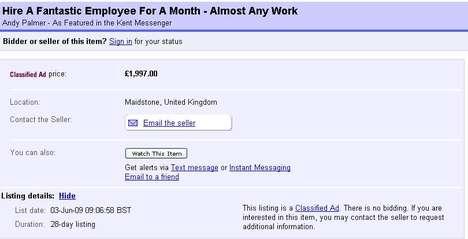 Bidding on Employees