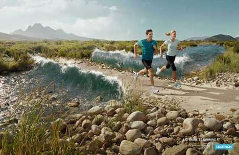 "Biblical Sportvertising - Decathlon Parts Waters For You to ""Let There Be Running"""