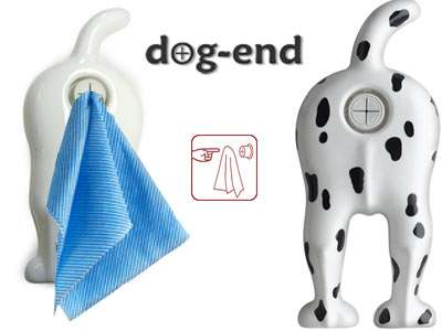 Dog End Towel Holder Amuses Inner Child
