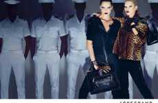Sailor Boy Backdrops - Kate Moss and Daria Werbowy for Longchamp Fall/Winter 09 Campaign