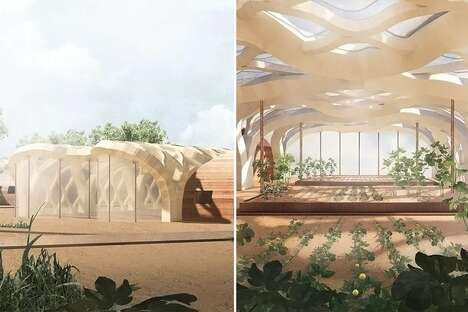 Ethereal Inflatable Bamboo Greenhouses