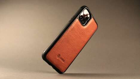 Sophisticated Leather-Accented Smartphone Cases