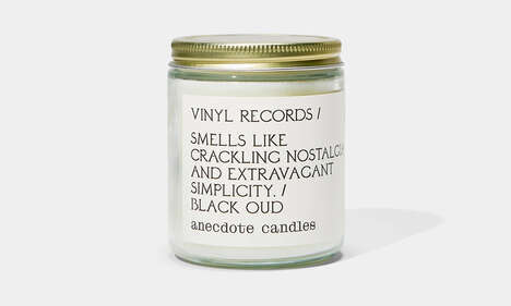 Vinyl Records Candles
