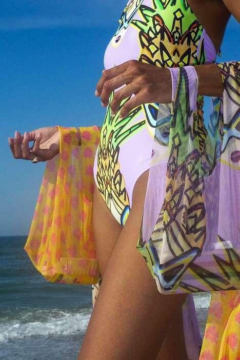 Sheer Beach-Ready Totes
