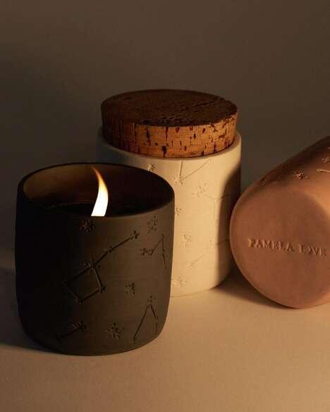 Porcelain Constellation-Adorned Candles