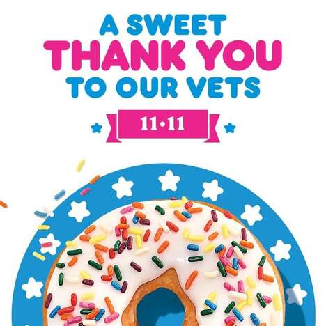 Veterans Day Donut Giveaways
