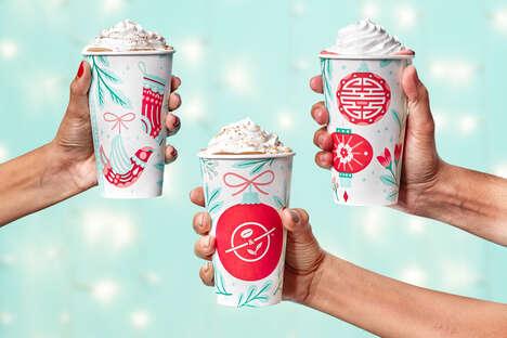 Festive Coffee Cup Branding