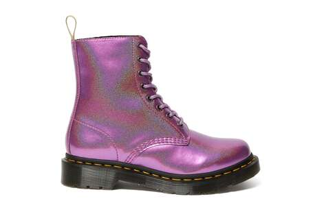 Shimmering Combat Boots
