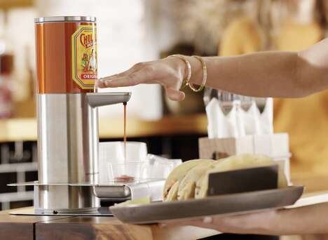 Hands-Free Hot Sauce Dispensers