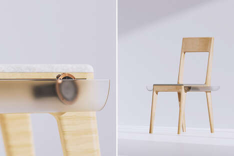 The 'Tool Belt Chair' Offers Space for Storing Items Nearby
