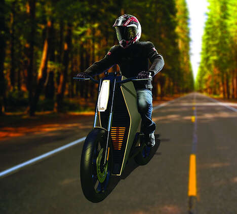 The 'Kaishi' Multi-Positional Electric Motorcycle is Easy to Use