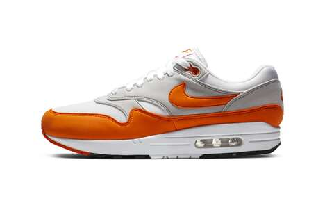 Rusia Matemáticas tengo hambre  Bold Tonal Celebratory Shoes - Nike Launches a Magma Orange Air Max 1 to  Join the Anniversary Pack (TrendHunter.com) - usa-vision
