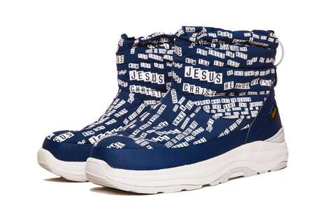 Religious Themed Winter Footwear