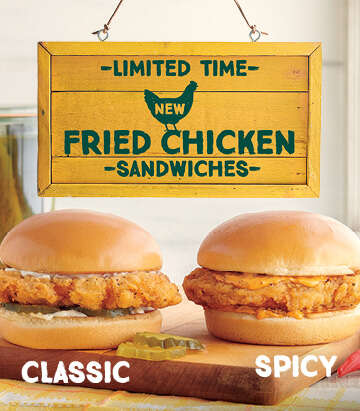 All-Natural Fried Chicken Sandwiches