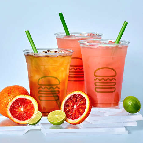 Festive Blood Orange Lemonades