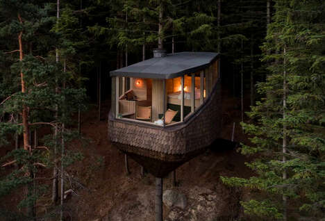 Tranquil Tree-Wrapped Cabins