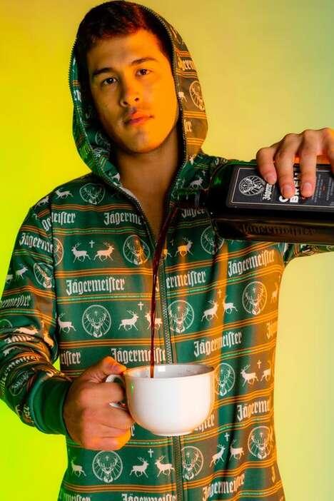Festive Alcohol-Branded Pajamas