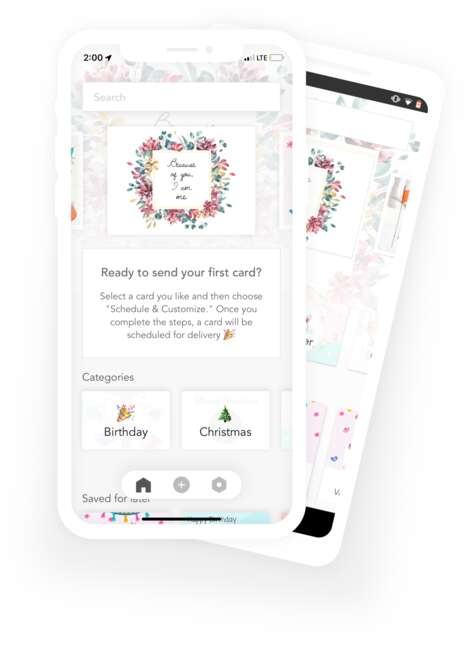 App-Powered Greeting Card Services