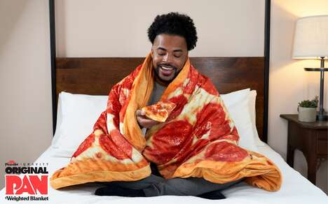 Pizza-Branded Weighted Blankets