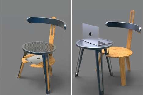 Minimalist Shapeshifting Workstation Chairs