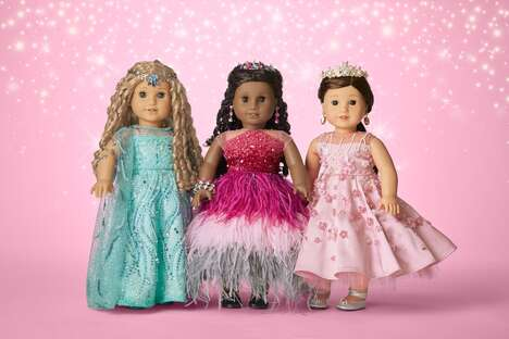 Crystal-Adorned Collectible Dolls