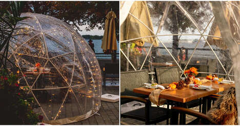 Atmospheric Dome Dining Patios