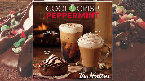 Crisp Peppermint-Infused Cafe Menus